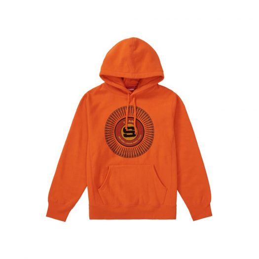Supreme Chenille Applique Hooded Sweatshirt Orange