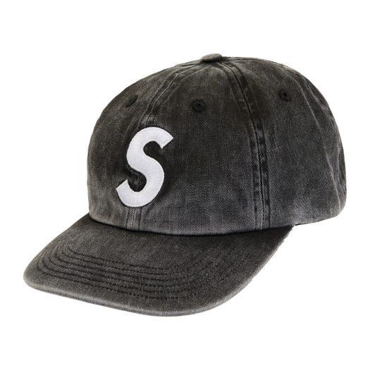 Supreme Pigment Print S Logo 6-Panel Black