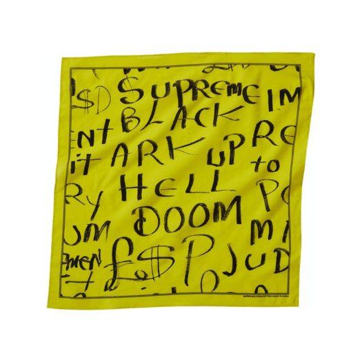 Supreme Black Ark Bandana Fluorescent Yellow
