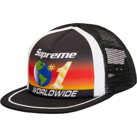 Supreme Worldwide Mesh Back 5-Panel Black