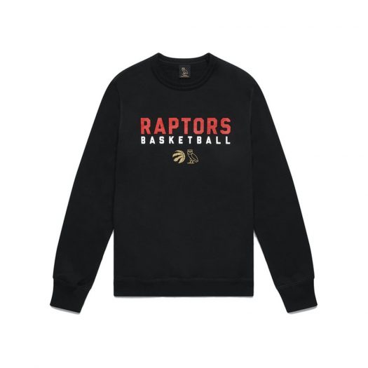 Ovo X Raptors Pre-game Crewneck Black