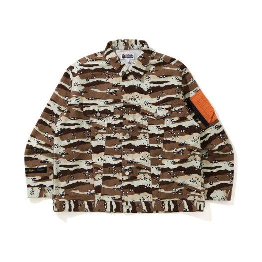 Bape Desert Camo Loose Fit Trucker Jacket Beige