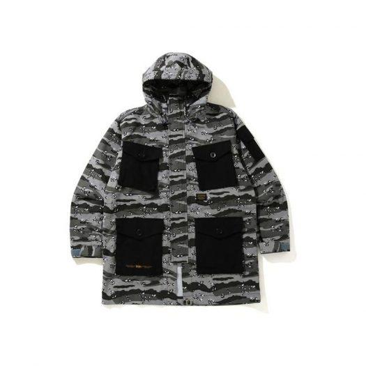 Bape Desert Camo Loose Fit Military Jacket Black