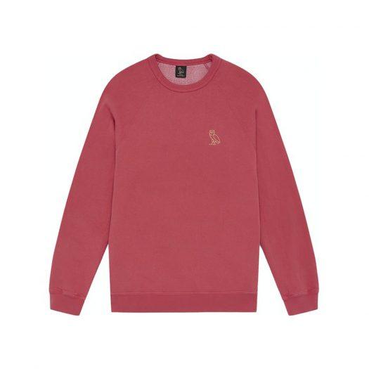 Ovo Garment Dye Crewneck Red