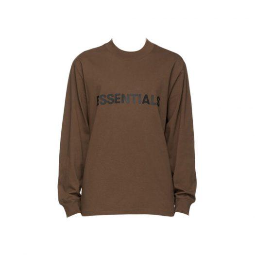 Fear Of God Essentials X Ssense 3d Silicon Applique Boxy Long Sleeve T-shirt Rain Drum
