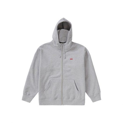 Supreme Small Box Facemask Zip Up Hooded Sweatshirt Heather Grey