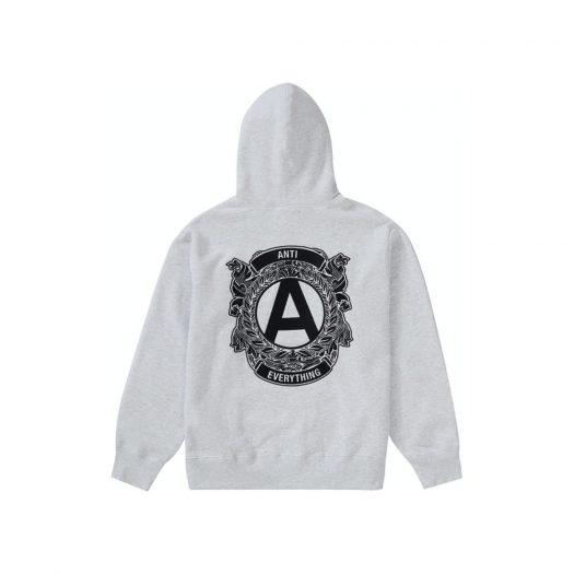 Supreme Anti Hooded Sweatshirt Ash Grey