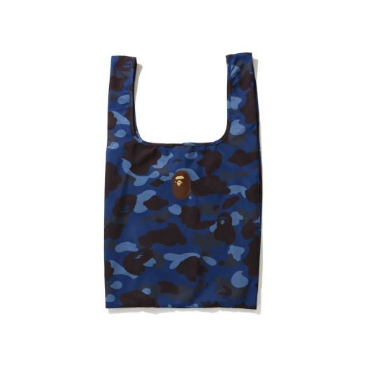 Bape Color Camo Shopping Bag L Blue