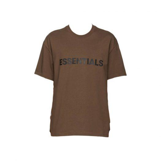 Fear Of God Essentials X Ssense 3d Silicon Applique Boxy T-shirt Rain Drum