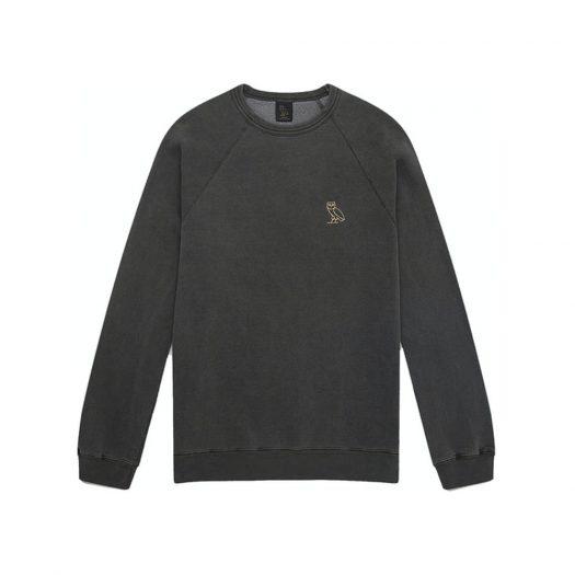 Ovo Garment Dye Crewneck Black