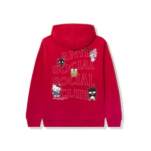 Anti Social Social Club x Hello Kitty and Friends Hoodie Red