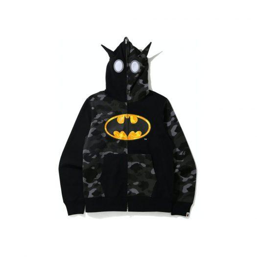 Bape X Dc Batman Full Zip Hoodie Black