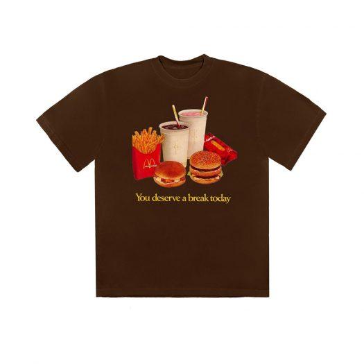 Travis Scott x McDonald's Deserve A Break T-Shirt Brown