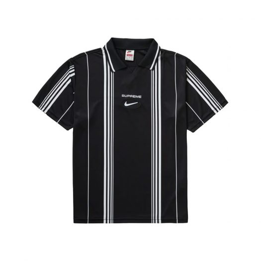 Supreme Nike Jewel Stripe Soccer Jersey Black