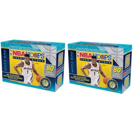 2019-20 Panini NBA Hoops Premium Stock Basketball Mega Box 80 ct. 2x Lot