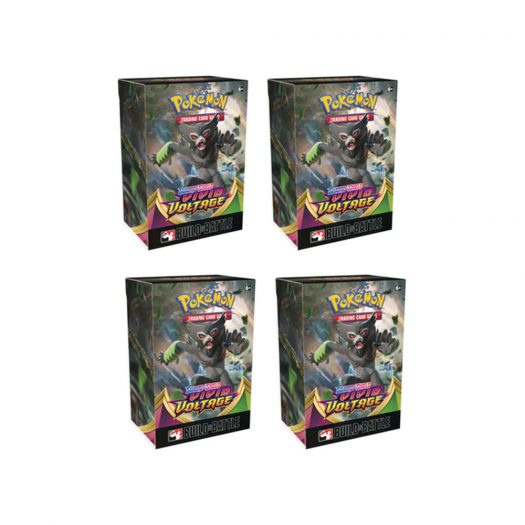 2020 Pokemon TCG Sword & Shield Vivid Voltage Build & Battle Box Pre-Release 4x Lot