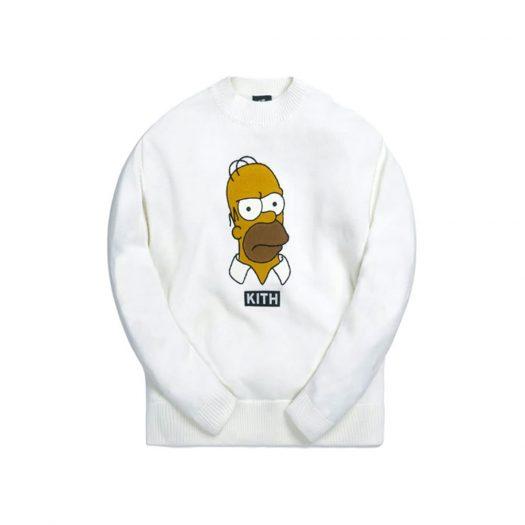 Kith x The Simpsons Homer Intarsia Sweater White