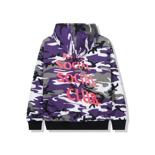 Anti Social Social Club True Colors Purple Hoodie Camo