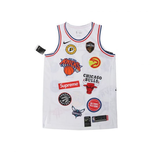 Supreme Nike/NBA Teams Authentic Jersey White