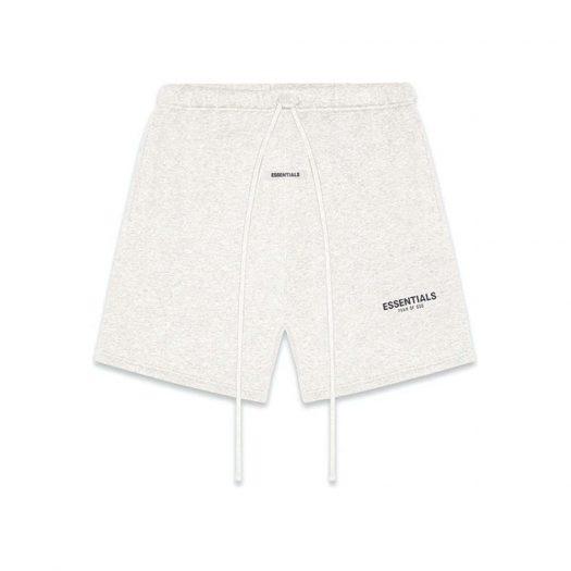 Fear Of God Essentials Fleece Shorts Light Heather Oatmeal
