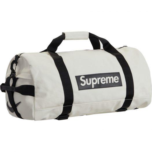 Supreme Nike Leather Duffle Bag White