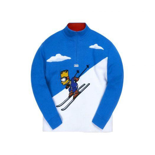 Kith x The Simpsons Bart Quarter Zip Ski Sweater Blue/Multi