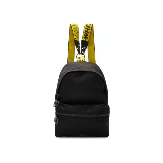 OFF-WHITE Backpack Nylon Mini Black Yellow in Nylon with Gunmetal