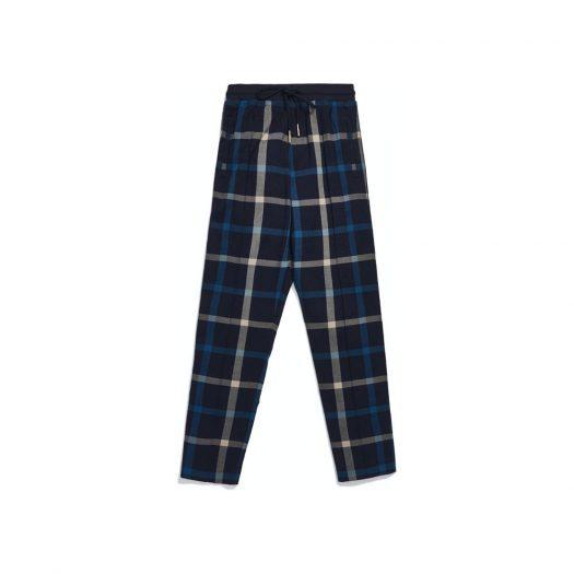 Kith for Bergdorf Goodman Roger Track Pant Navy/Blue Plaid