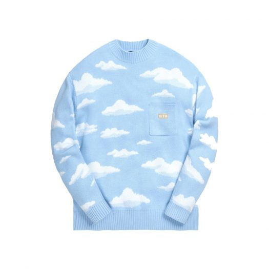 Kith x The Simpsons Cloud Intarsia Sweater Blue