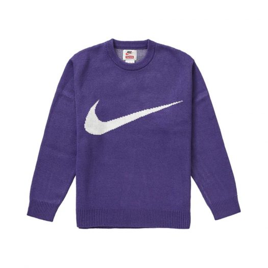 Supreme Nike Swoosh Sweater Purple