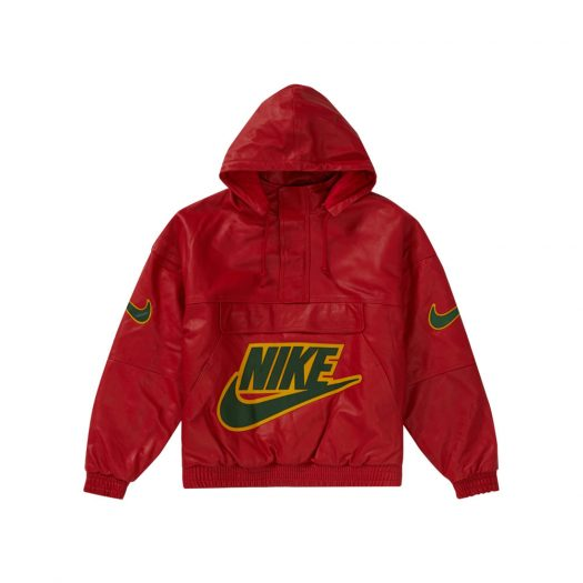 Supreme Nike Leather Anorak Red
