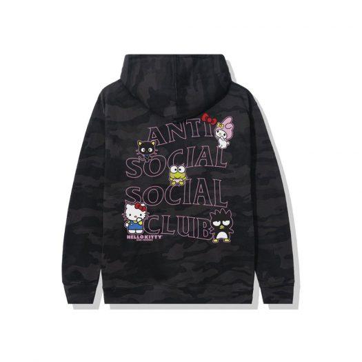 Anti Social Social Club x Hello Kitty and Friends Hoodie Black Camo