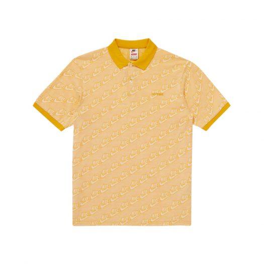 Supreme Nike Jacquard Polo Mustard