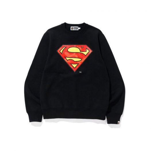 Bape X Dc Superman Crewneck Black
