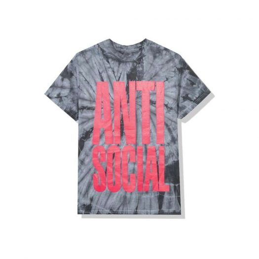 Anti Social Social Club Heatwave Tee Black Tie Dye