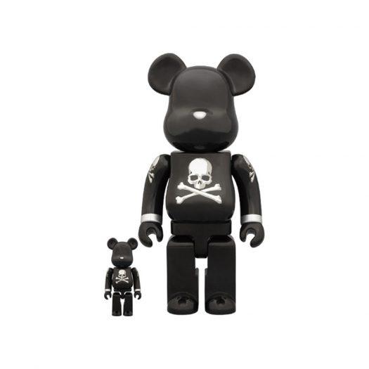 Bearbrick x mastermind Black and Silver 100% & 400% Set Black/Silver