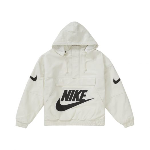 Supreme Nike Leather Anorak White
