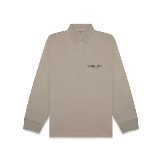 Fear Of God Essentials Long Sleeve Boxy Polo Taupe