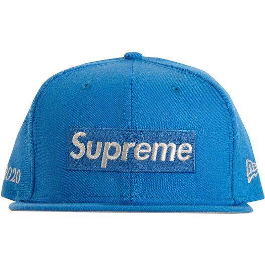 Supreme $1M Metallic Box Logo New Era Light Blue