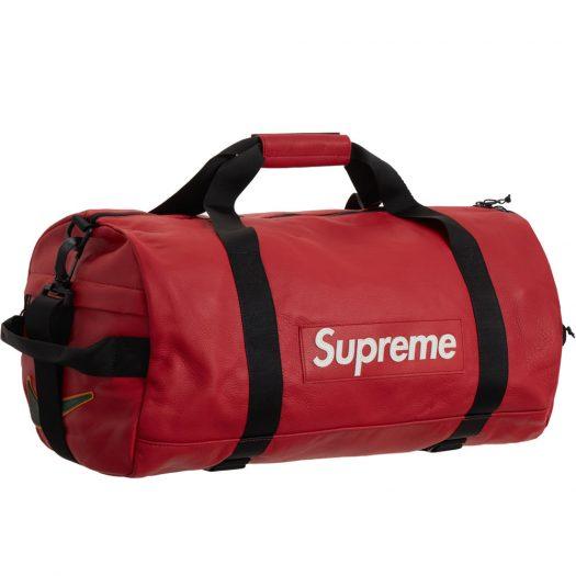 Supreme Nike Leather Duffle Bag Red
