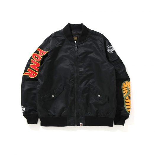 Bape Shark Loose Fit Ma-1 Jacket Black