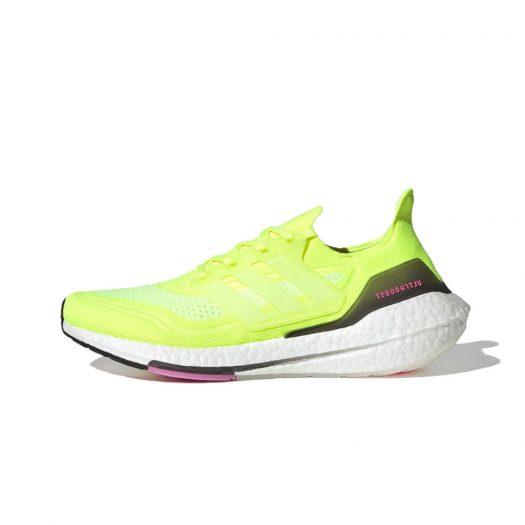 adidas Ultra Boost 2021 Solar Yellow Pink