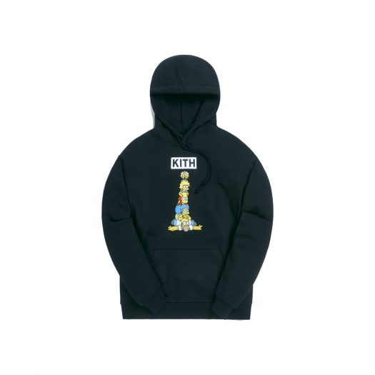 Kith x The Simpsons Family Stack Hoodie Black