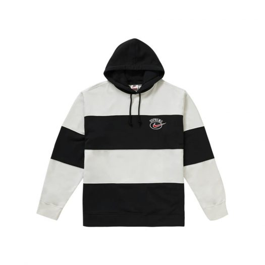 Supreme Nike Stripe Hooded Sweatshirt Black