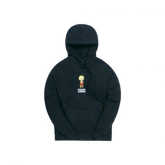 Kith x The Simpsons Lisa Logo Hoodie Black