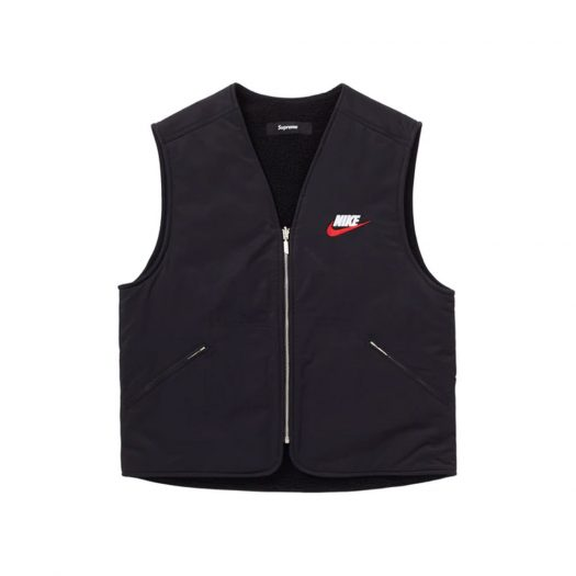 Supreme Nike Reversible Nylon Sherpa Vest Black