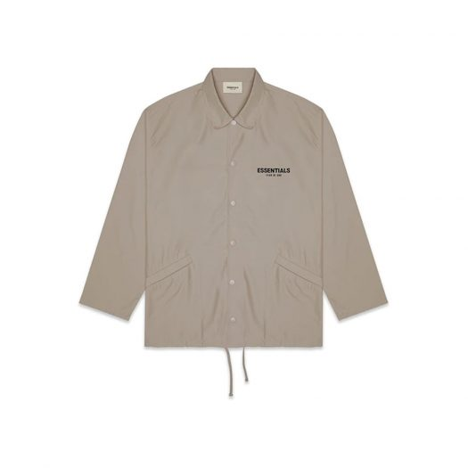 Fear Of God Essentials Coach Jacket Taupe