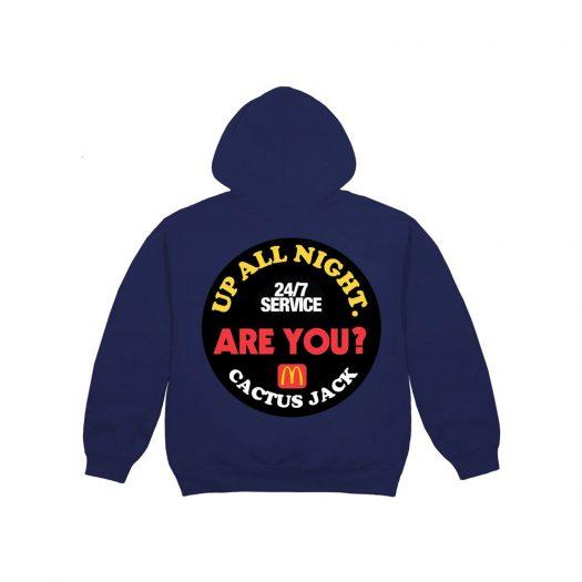 Travis Scott x McDonald's Up All Night Sticker Hoodie Navy