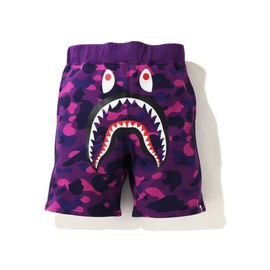 Bape Color Camo Shark Sweat Shorts (Ss21) Purple