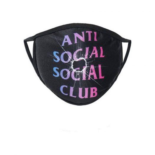 Anti Social Social Club Tongue Tied Mask Black